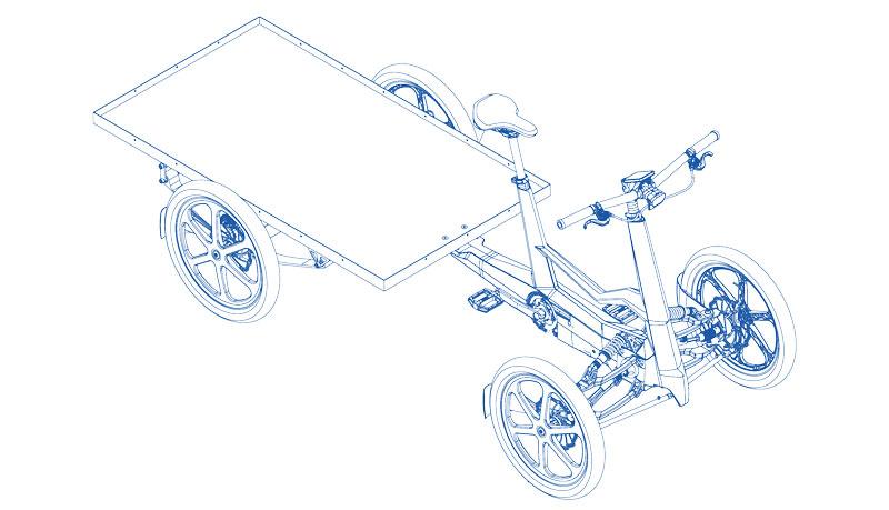 Cargo bike Sum-Tre-Quarti